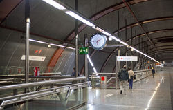 MADRID, SPAIN - MAY 28, 2014: Clock, Tube, underground station Stock Image