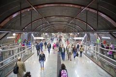 MADRID, SPAIN - MAY 28, 2014: Clock, Tube, underground station Stock Photography