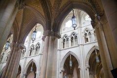 MADRID, SPAIN - MAY 28, 2014: Golden altar in Santa Maria la Real de La Almudena cathedral, Madrid, Spain. Stock Images