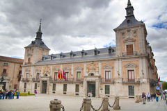 MADRID, SPAIN - MAY 28, 2014: Government buildings in old Madrid center Royalty Free Stock Images