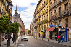 MADRID, SPAIN - MAY 28, 2014: Government buildings in old Madrid center Stock Photography