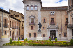 MADRID, SPAIN - MAY 28, 2014: Government buildings in old street Stock Photography