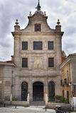 MADRID, SPAIN - MAY 28, 2014: Government buildings in old street Royalty Free Stock Photography