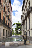 MADRID, SPAIN - MAY 28, 2014: Government buildings in old street Royalty Free Stock Photos