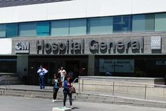 Hospital Universitario La Paz, the largest hospital in Madrid, Spain. Madrid, Spain - May 20, 2017: Hospital Universitario La Paz, the largest general hospital royalty free stock photos