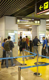 MADRID, SPAIN - MAY 28, 2014: Interior of Madrid airport, departure waiting aria Royalty Free Stock Image