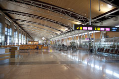 MADRID, SPAIN - MAY 28, 2014: Interior of Madrid airport, departure waiting aria Stock Image