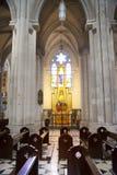 MADRID, SPAIN - MAY 28, 2014: Interior of Santa Maria la Real de La Almudena Stock Photography