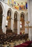 MADRID, SPAIN - MAY 28, 2014: Interior of Santa Maria la Real de La Almudena Royalty Free Stock Photo
