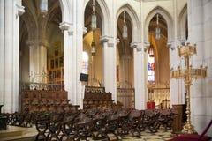 MADRID, SPAIN - MAY 28, 2014: Interior of Santa Maria la Real de La Almudena Stock Photo