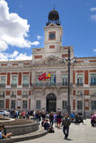 MADRID, SPAIN - MAY 28, 2014: Madrid city centre, Puerta del Sol square Stock Images