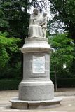 Monument to Pedro Ponce de Leon in Madrid, Spain royalty free stock images