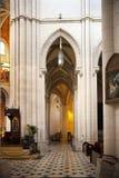MADRID, SPAIN - MAY 28, 2014: Organ, Santa Maria la Real de La Almudena cathedral, Madrid, Spain. Stock Images