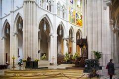 MADRID, SPAIN - MAY 28, 2014: Organ, Santa Maria la Real de La Almudena cathedral, Madrid, Spain. Royalty Free Stock Photos