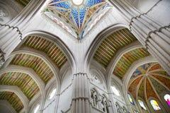 MADRID, SPAIN - MAY 28, 2014: Organ, Santa Maria la Real de La Almudena cathedral, Madrid, Spain. Royalty Free Stock Photo