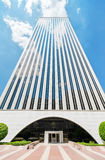 MADRID, SPAIN-4 MAY: Picasso Tower at financial center in Madrid. Royalty Free Stock Photography