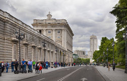 MADRID, SPAIN - MAY 28, 2014: The Royal Palace in Madrid, official residence of the Spanish Royal Family. MADRID, SPAIN - MAY 28, 2014: The Royal Palace of royalty free stock image
