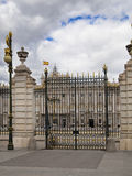 MADRID, SPAIN - MAY 28, 2014: The Royal Palace in Madrid, official residence of the Spanish Royal Family. MADRID, SPAIN - MAY 28, 2014: The Royal Palace of royalty free stock images