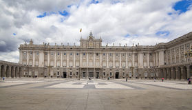 MADRID, SPAIN - MAY 28, 2014: The Royal Palace in Madrid, official residence of the Spanish Royal Family. MADRID, SPAIN - MAY 28, 2014: The Royal Palace of stock image