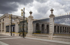 MADRID, SPAIN - MAY 28, 2014: The Royal Palace in Madrid, official residence of the Spanish Royal Family Stock Photography