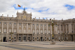 MADRID, SPAIN - MAY 28, 2014: The Royal Palace in Madrid, official residence of the Spanish Royal Family. MADRID, SPAIN - MAY 28, 2014: The Royal Palace of royalty free stock photos