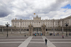 MADRID, SPAIN - MAY 28, 2014: The Royal Palace in Madrid, official residence of the Spanish Royal Family. MADRID, SPAIN - MAY 28, 2014: The Royal Palace of stock images