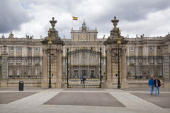 MADRID, SPAIN - MAY 28, 2014: The Royal Palace in Madrid, official residence of the Spanish Royal Family Royalty Free Stock Images