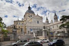 MADRID, SPAIN - MAY 28, 2014:  Santa Maria la Real de La Almudena Stock Photo
