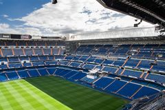 MADRID, SPAIN - MAY 14, 2009: Santiago Bernabeu Stadium of Real Madrid on May 14, 2009 in Madrid, Spain. Real Madrid C.F. was esta. Blished in 1902. It is the royalty free stock images