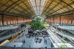 Madrid,Spain-May 25,2015: Tropical green house, location in 19th Royalty Free Stock Images