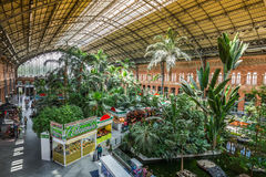 Madrid,Spain-May 25,2015: Tropical green house, location in 19th Stock Photo