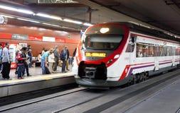 MADRID, SPAIN - MAY 28, 2014: Tube, underground station Madrid royalty free stock photo