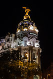 Madrid Spain at night Royalty Free Stock Image