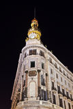 Madrid Spain at night Stock Photos