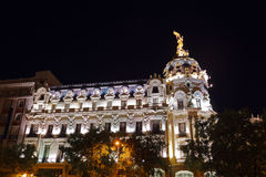 Madrid Spain at night Royalty Free Stock Photo