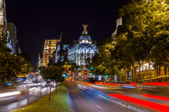 Madrid Spain at night Royalty Free Stock Images