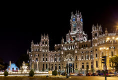 Madrid Spain at night Royalty Free Stock Photos