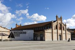 Matadero Madrid - cultural center - former slaughterhouse converted into a contemporary arts space. Madrid, Spain - November 23, 2018: Matadero Madrid, cultural royalty free stock photo