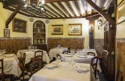 Madrid, Spain - October 9, 2017: Interior of Botin Restaurant #2. Interior of the World`s Oldest Restaurant - Botin in Madrid Spain #2 Stock Photography