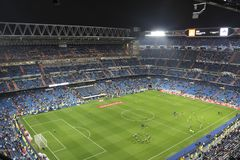Santiago Bernabeu Stadium during a Real Madrid match in 2016 stock photography