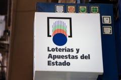 `Loterias y apuestas del estado` sign royalty free stock photos