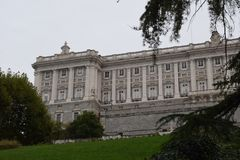 Royal Palace Palacio Real, Madrid - Renaissance royalty free stock image