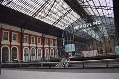 Principe Pio Station former Estación del Norte, Madrid royalty free stock photos