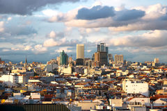 Madrid - Spain. Panoramic aerial view of Madrid's skyline, Spain Stock Photos