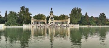 Madrid Spain: Park of Buen Retiro Royalty Free Stock Photo
