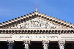 Parliament of Spain Royalty Free Stock Images
