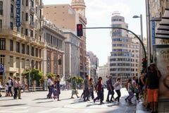 2017.05.31, Madrid, Spain. People on the street of Madrid. royalty free stock photos