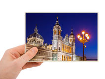Madrid Spain photography in hand Royalty Free Stock Photography