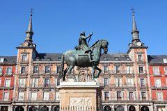 Madrid, Spain. Madrid - Plaza Mayor, old city square. Capital city of Spain Stock Image