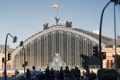 Madrid Spain: Puerta de Atocha, railway station Royalty Free Stock Photo